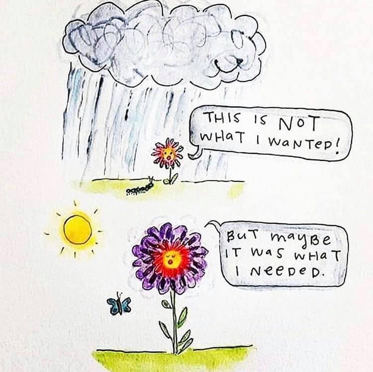 femeia si ploaia