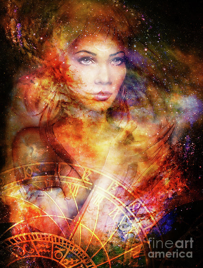 1-goddess-woman-in-cosmic-space-and-zodiac-jozef-klopacka
